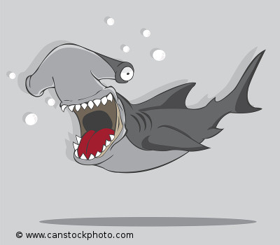 Hammerhead Shark Cartoon