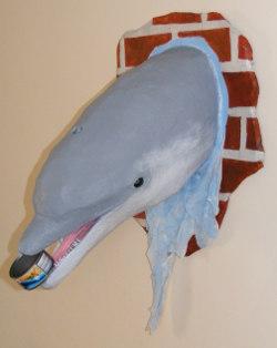 paper mache dolphin