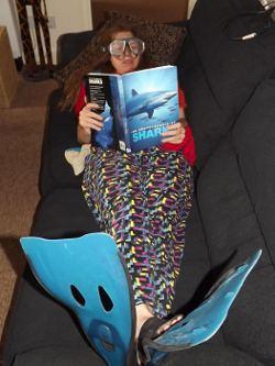 Karen -'dressed for World Oceans Day'